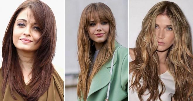 Стрижки на длинные волосы 2018 – 45 фото самых модных причесок нового сезона
