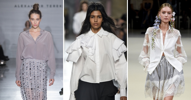 Блузки 2018 года − модные тенденции, новинки, тренды, с чем их носить?