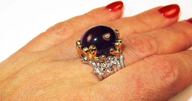 Кольцо с аметистом – подборка фото красивых колец с натуральным камнем