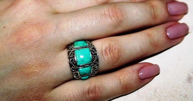 Кольцо с бирюзой – 36 фото красивых современных и винтажных колец с натуральной бирюзой