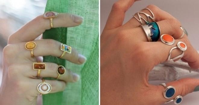 Кольцо с эмалью – 68 фото самых модных и красивых колец с эмалью на любой вкус