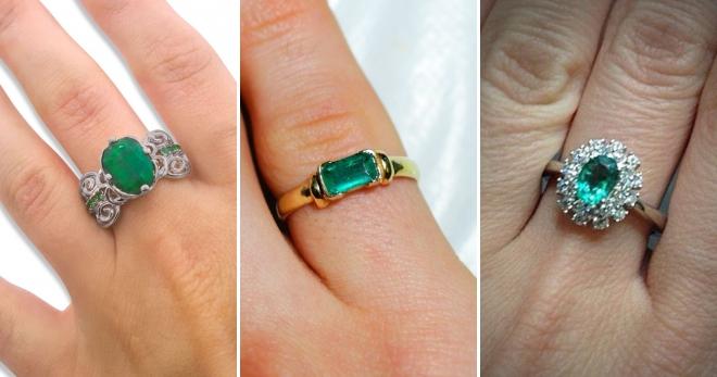 Кольцо с изумрудом – подборка фото красивых колец с натуральным изумрудом