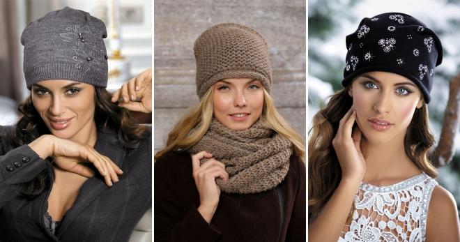 женские модные шапки 2018 года вязаные объемные бини носок