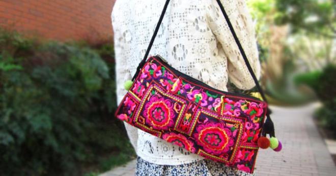 Sacs avec broderie - une sélection de photos des plus beaux et originaux sacs brodés
