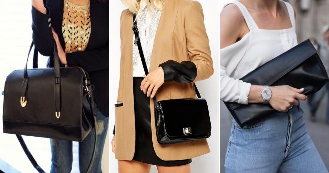 cc8546ce8126 Черная кожаная сумка – 42 фото стильных брендовых аксессуаров на все случаи  жизни