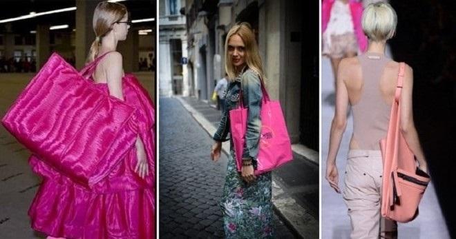 Розовая сумка – с чем носить и как создавать стильные образы?