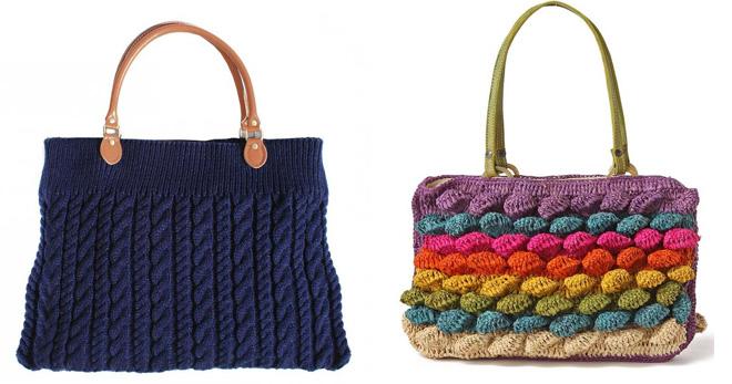 Tricoté sacs - les modèles les plus élégants et quoi porter avec?