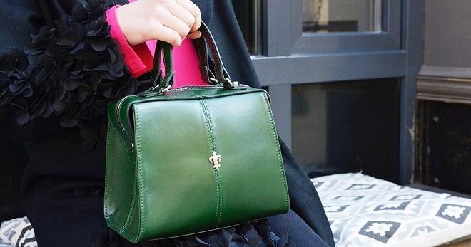 aefb1f4ec16c Модная женская зеленая сумка – кожаная, замшевая, бархатная, через ...