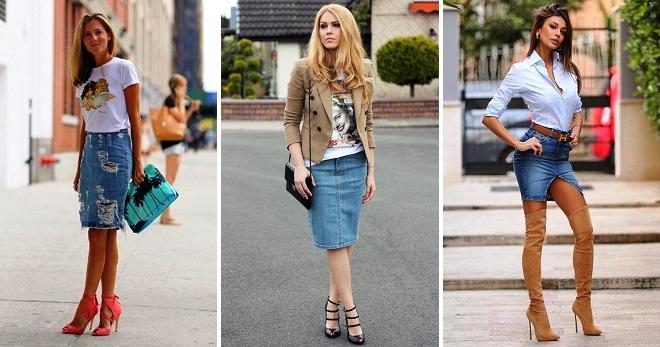 С чем носить джинсовую юбку – 36 фото самых стильных образов на любой вкус