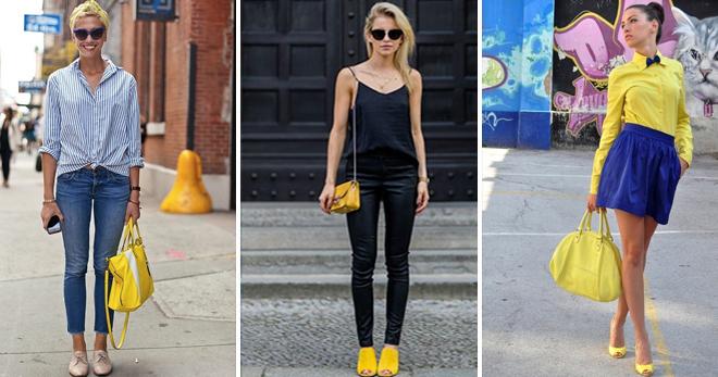 Желтая сумка – с чем носить и как создавать стильные образы с сумкой желтого цвета?