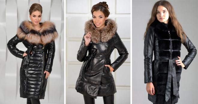 7df20ddbfaa Кожаное пальто с мехом – подборка фото самых модных моделей на любой вкус