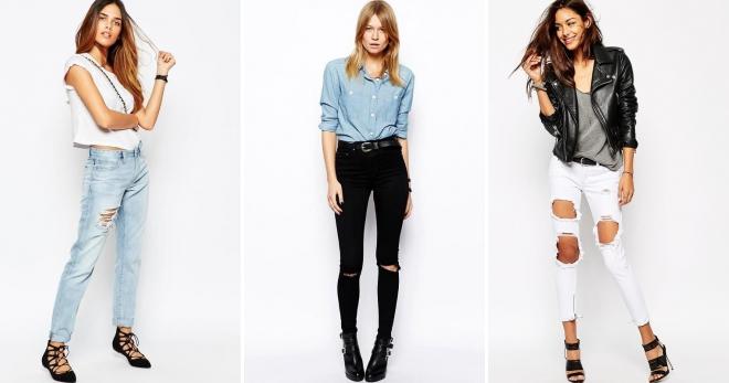 Джинсы с дырками – с чем носить и как создавать модные образы?