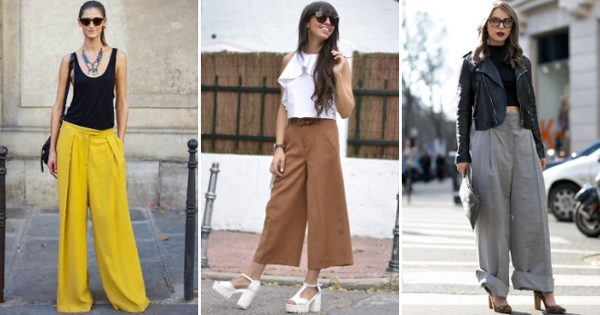 Широкие брюки – 50 фото самых стильных образов на все случаи жизни