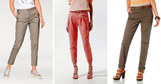 a561dd55b43 Женские брюки чинос – зауженные