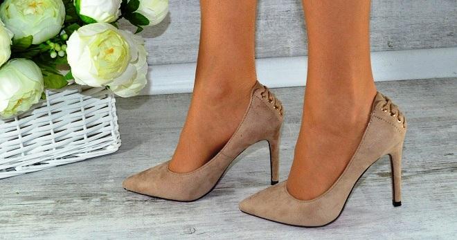 082210a6 Стильные женские бежевые туфли-лодочки – на высоком, среднем, низком ...