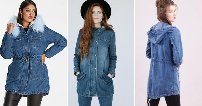 2539338e2fe Джинсовая парка – 40 фото стильных женских курток на любой вкус