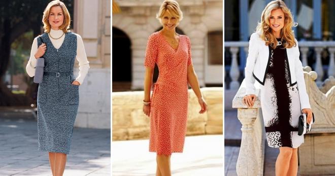 Платья для женщин после 40 лет – 52 фото самых стильных платьев на все  случаи жизни 8c3924e5381
