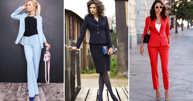 bde0dd21771 Женские классические костюмы – 44 фото модных луков на все случаи жизни