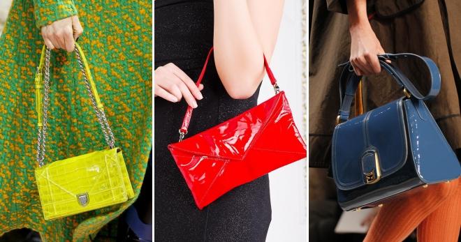 a23e4ffa9f73 Лаковая сумка – черная, красная, бежевая, саквояж, мешок, с рисунком ...