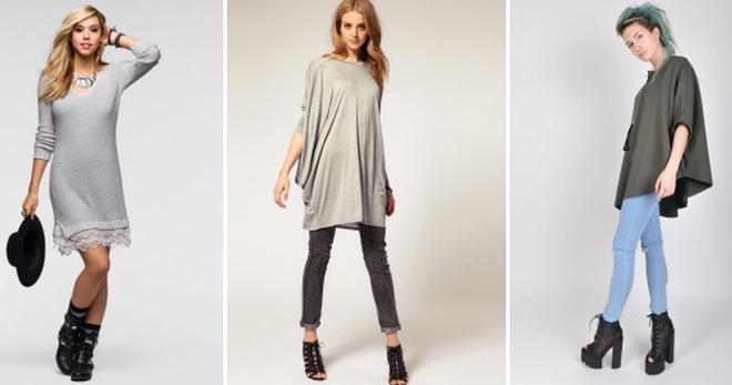 Трикотажные туники – с чем носить и как создавать модные образы?