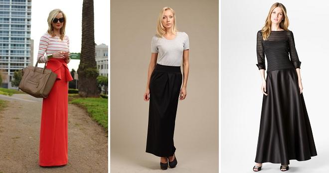 Фасоны длинных юбок – самые модные зимние и летние модели