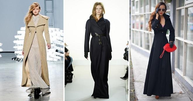 Пальто в пол – с чем носить и как создавать стильные образы?