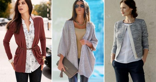 Женские кардиганы – с чем носить и как создавать модные образы?