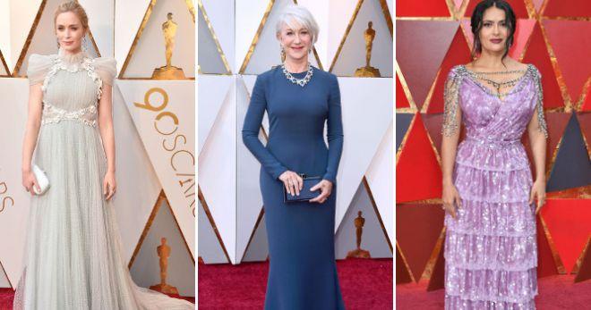 Оскар 2018 – платья – лучшие и худшие наряды церемонии вручения премии