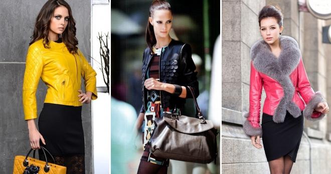 Женские кожаные куртки из натуральной кожи – модные демисезонные и зимние модели