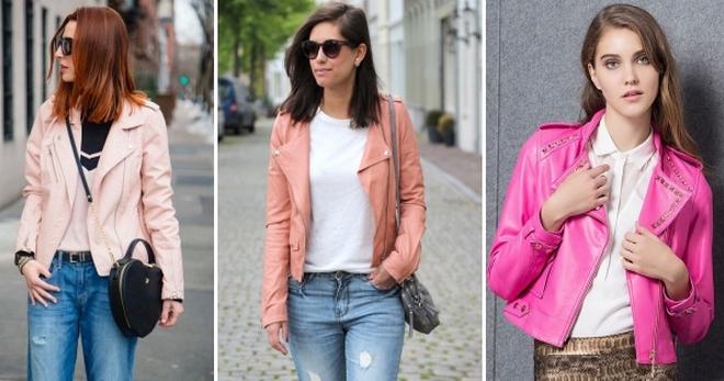 Розовая кожаная куртка – с чем носить и как создавать стильные образы?