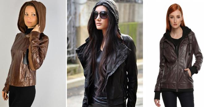 Кожаная куртка с капюшоном – 62 фото самых стильных моделей на любой вкус