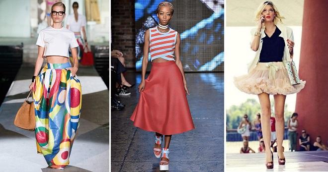 Расклешенная юбка – 80 фото модных образов с юбкой-клеш