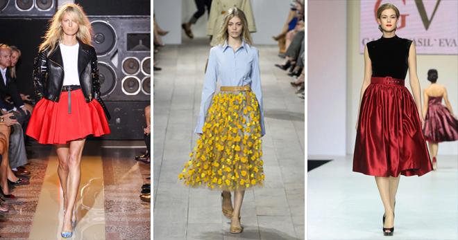 Юбка-клеш – с чем носить короткую, миди и длинную расклешенную юбку?