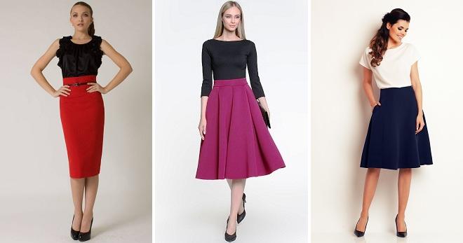 Юбка с завышенной талией – самые модные модели и с чем их носить?