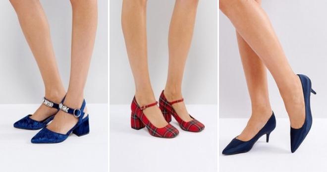 Туфли на низком каблуке – модные модели обуви на любой вкус