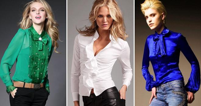 09dbbaa71a0 Стильные блузки − 52 фото модных образов на все случаи жизни