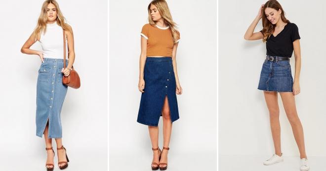 Джинсовые юбки 2018 – модные тенденции, модели и образы этого сезона