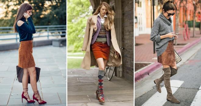 Замшевая юбка – 38 фото лучших моделей и образов