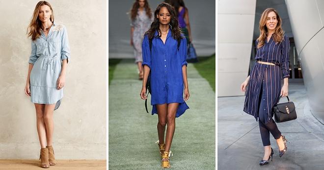 3eb66c37d853e54 Платье-рубашка 2018 – самые модные модели этого года, тенденции и образы