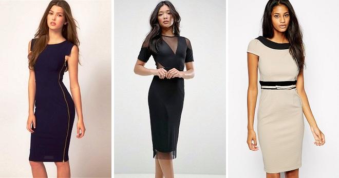 Платье-карандаш – модные модели самого универсального женского фасона