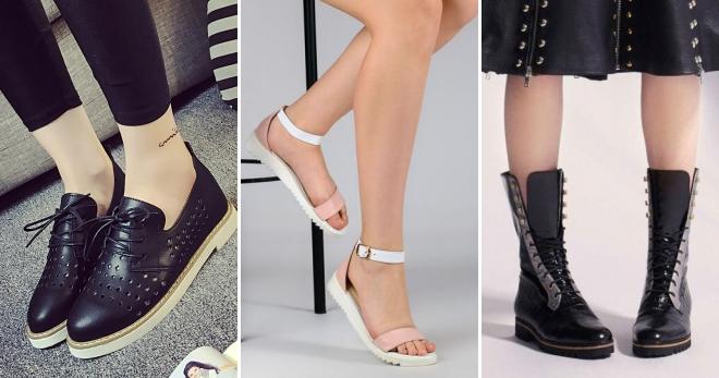 e302aa4a3 Модная женская обувь без каблука – демисезонная, осенняя, зимняя ...