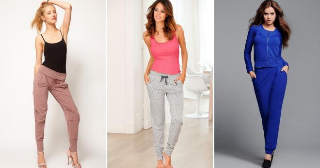 Трикотажные брюки – красивая и удобная одежда для девушек и женщин