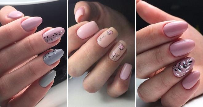 Розовый маникюр 2018 – модные тенденции для коротких и длинных ногтей