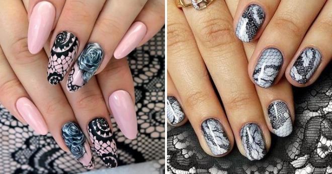 тенденция дизайна ногтей кружево