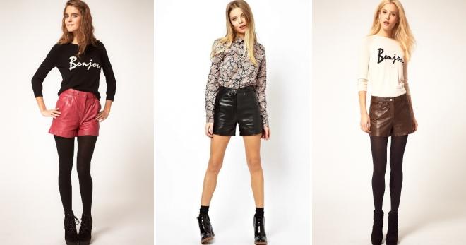 Кожаные шорты – 42 фото модных образов для любого случая