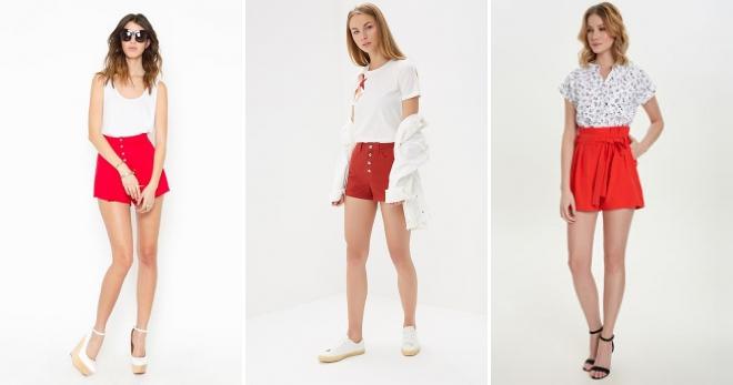Красные шорты – с чем носить и как создавать модные образы?