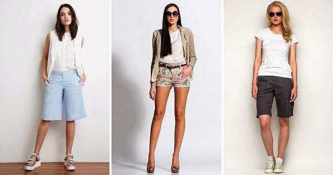 8f172e661ae2 Модные женские шорты-бермуды – джинсовые, укороченные, удлиненные ...