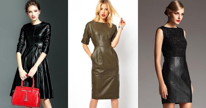 Кожаные платья – 40 фото модных моделей на любой вкус