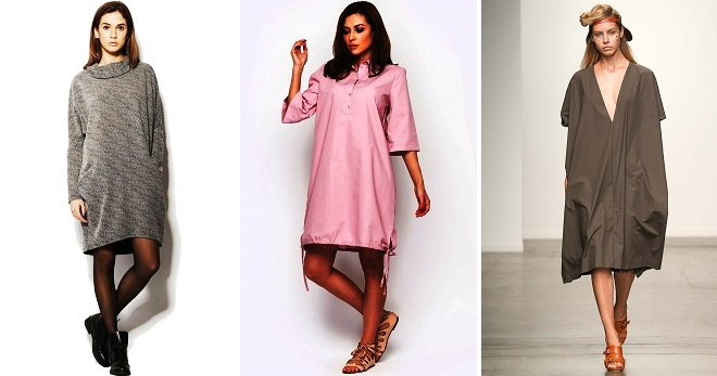 356b1c93e5c7 Модное женское платье-мешок – длинное, в пол, короткое, для полных ...