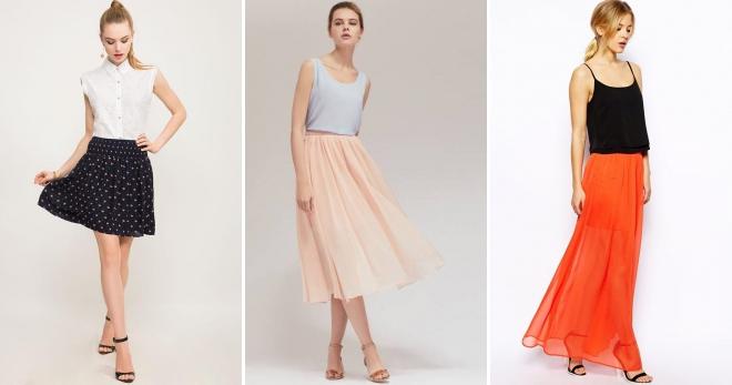 3e851041ec74 Красивые женские легкие юбки – летние, летящие, длинные, в пол ...